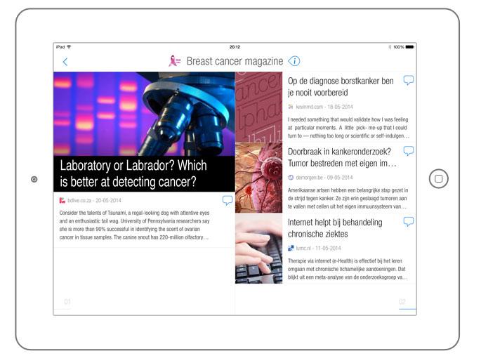 BuzzTalk Reader on the iPad
