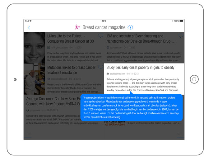 Content curation on BuzzTalk Reader